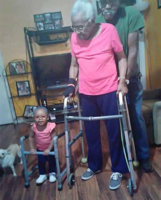 Маленькая копия бабушки.