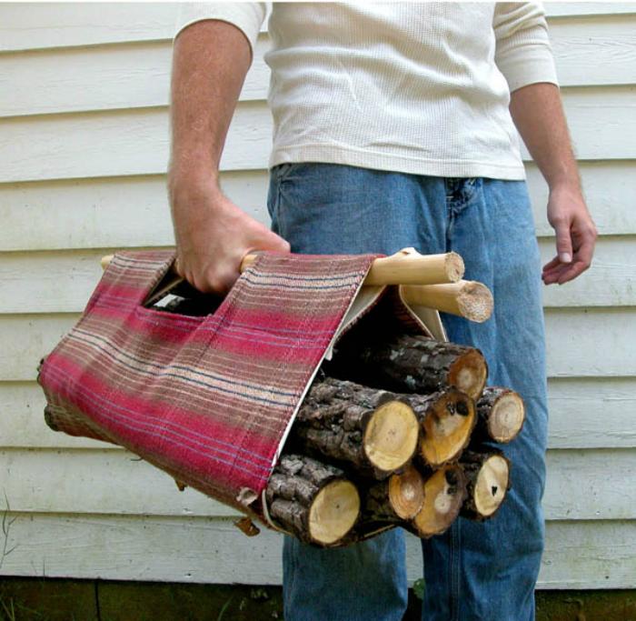 Переноска для травы и дров.