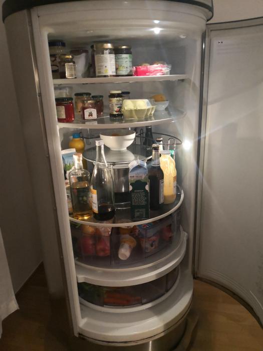 Холодильник цилиндрической формы. | Фото: Skoften.net.