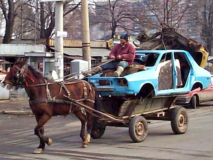 Уморительный транспорт.