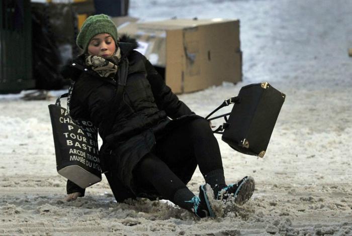 Экстремальная посадка на лед.