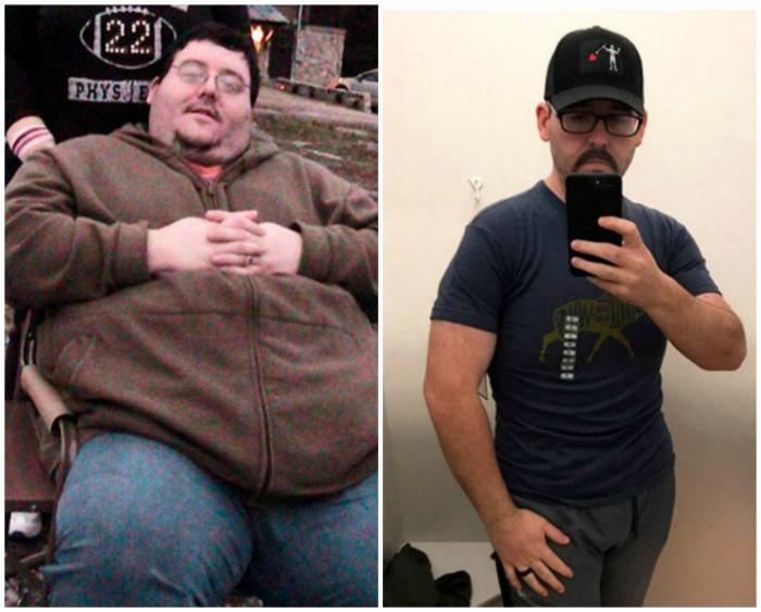 Похудел на сто тридцать килограмм.
