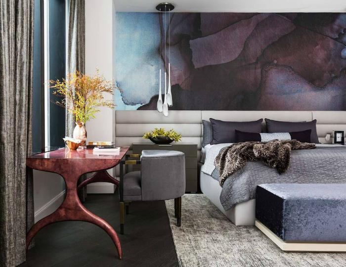 Роскошная спальня в современном стиле.