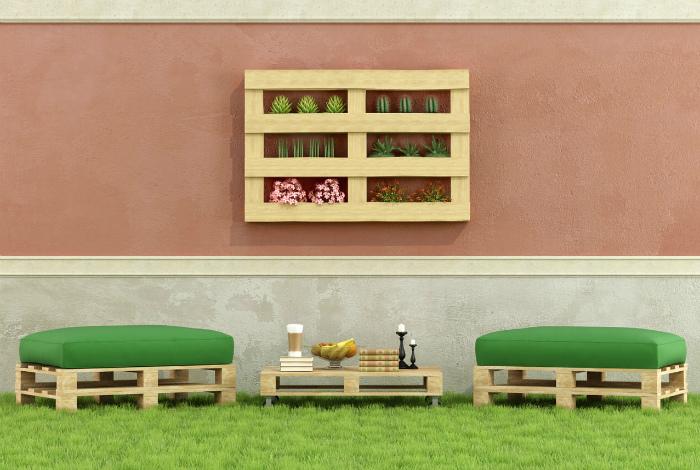 Комплект мебели из паллет.