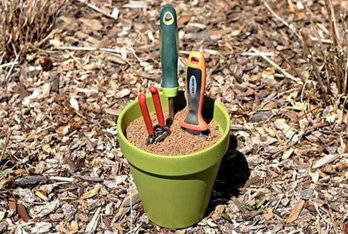 Уход за садовым инструментом.