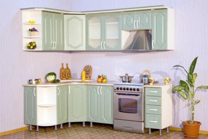 Кухонные шкафчики без цоколей.