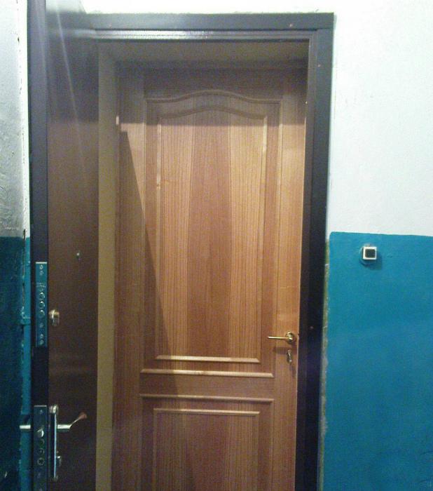 Две входные двери.