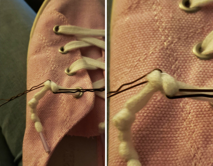 Узлы на веревках и шнурках. | Фото: Модная дама.