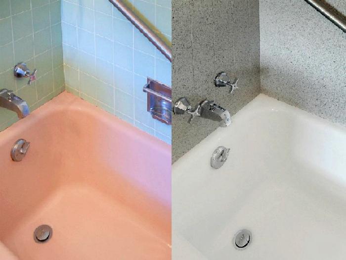 Новое эмалированное покрытие ванны.