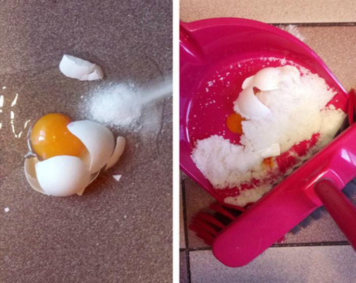 Разбитое яйцо. | Фото: Dama.bg.