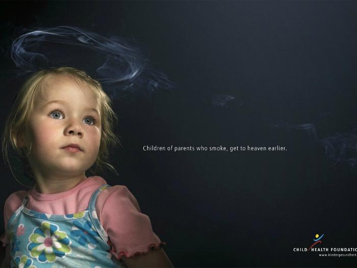 Дети курильщиков чаще остальных страдают тяжелыми заболеваниями.