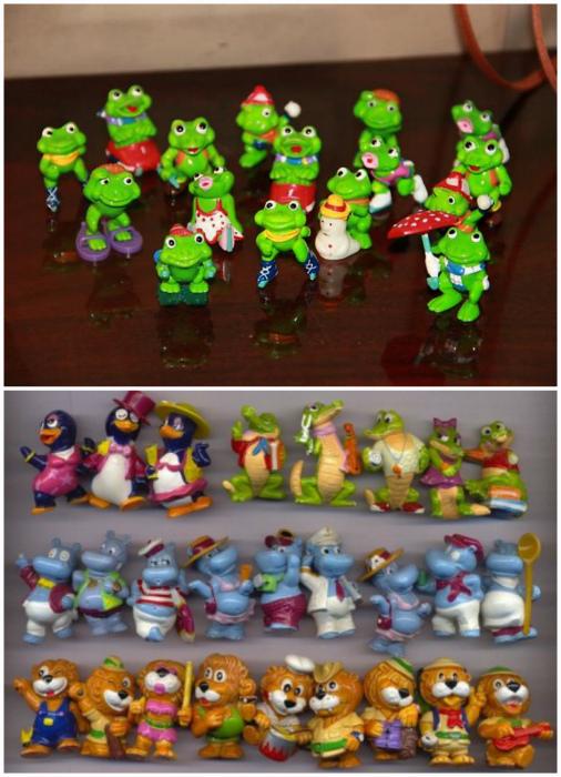 Коллекции игрушек из Киндера.