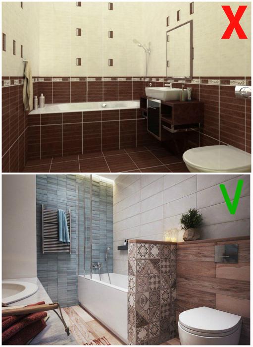Отделка ванны только плиткой.
