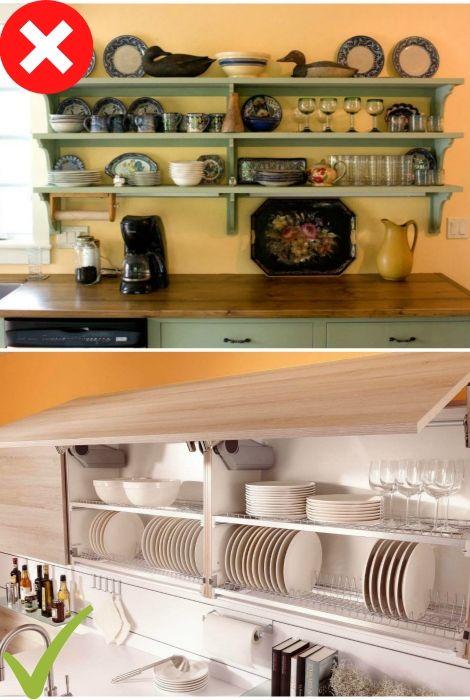 7 ошибок в интерьере, которые недопустимы на маленькой кухне