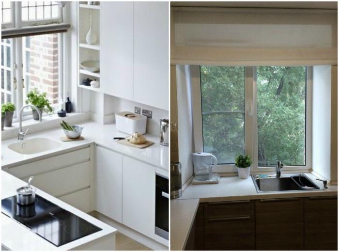 Кухонная мойка у окна. | Фото: БэбиБлог, Pinterest.