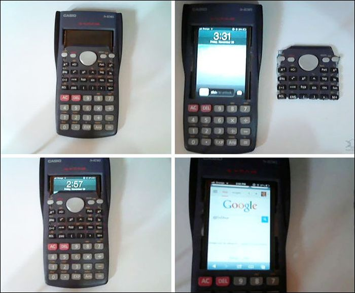 Телефон, замаскированный под калькулятор.