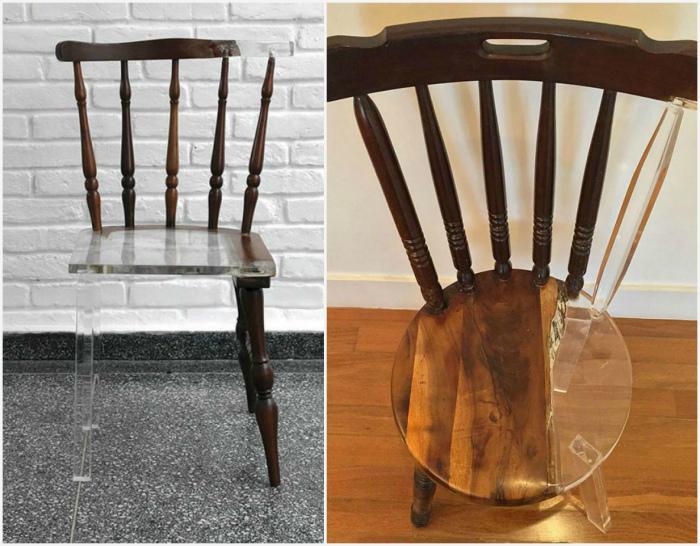 Ремонт поломанных стульев.