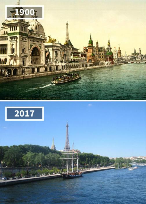 Набережная Парижа, 1900 - 2017.