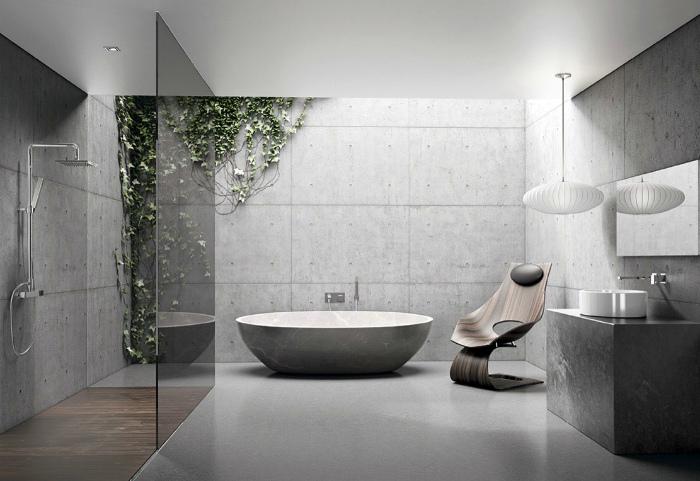 Ванная комната в стиле эклектика.