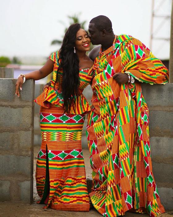 Традиционные свадебные наряды Ганы.