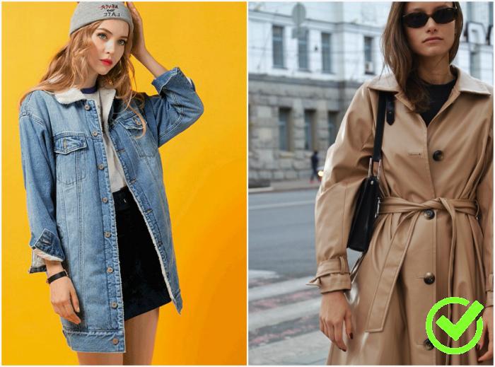Длинные джинсовые куртки и плащи. | Фото: Mod.net.ua, Anndom.