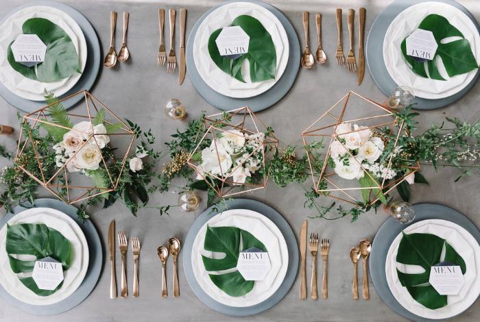 Оформление свадебного стола в индустриальном стиле.