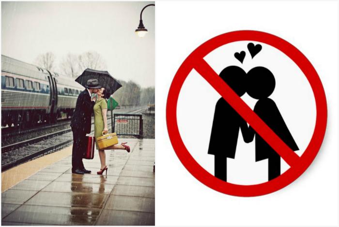 Поцелуи на вокзалах Англии. | Фото: Интересные статьи, Флэш-часики и Календарики.