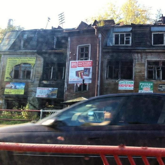Сгоревшее здание - не беда.