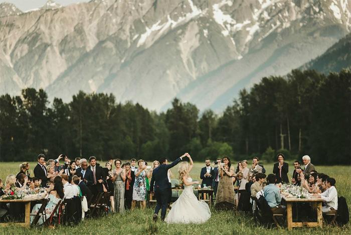 Свадьба в Пембертоне, Британская Колумбия, Канада.