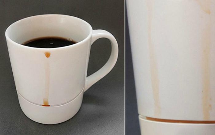 Чашка, не оставляющая разводов на столе.