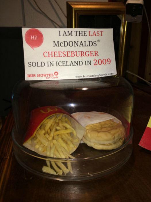 Последний чизбургер, купленный в Исландии.