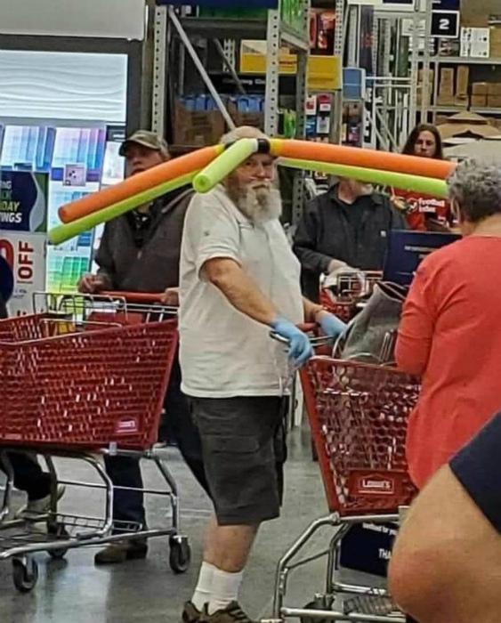 Веселое устройство, чтоб держать людей на расстоянии. | Фото: Reddit.