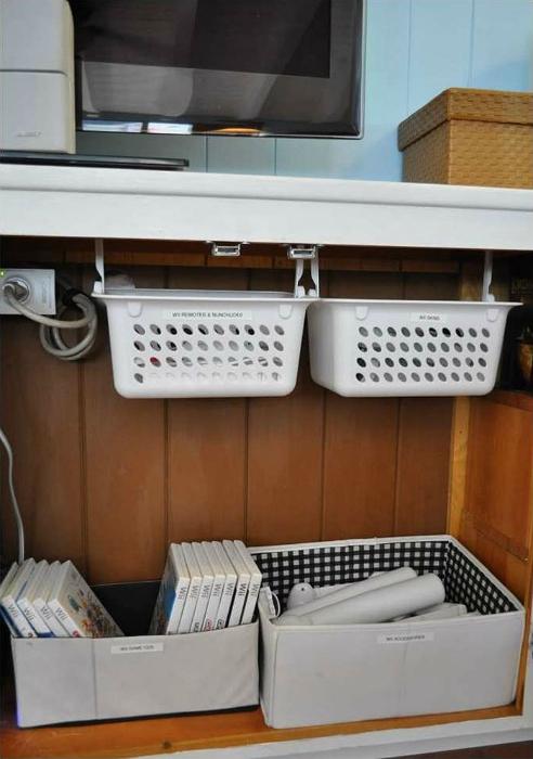 Дополнительные шкафчики рабочего стола.
