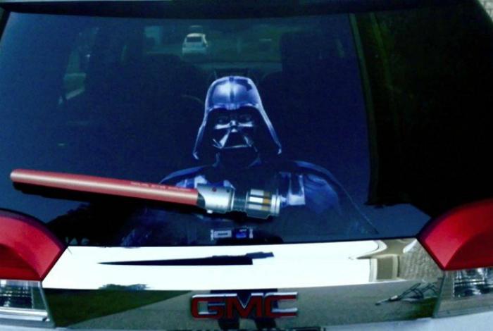 Забавные автомобильные дворники для фантов «Звездных воин».
