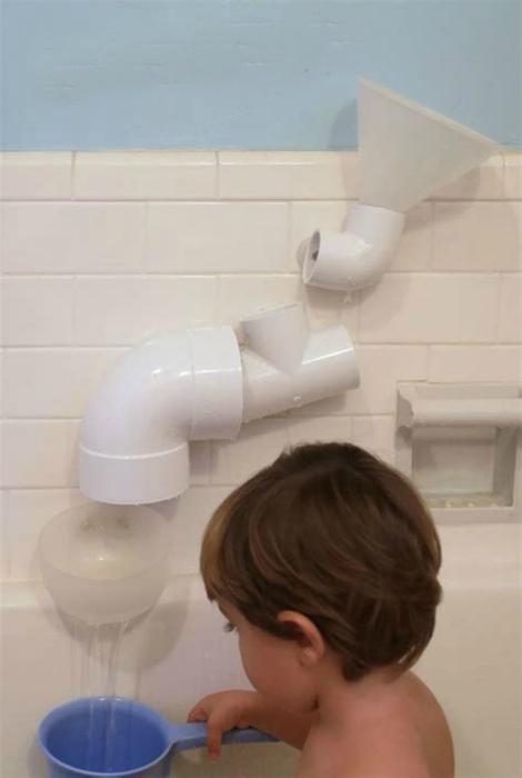 Игровой ручеек в ванной. | Фото: Dekorasyon.