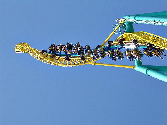 Горка в парке развлечений «Cedar Point».