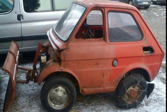 Уникальная снегоуборочная машина.
