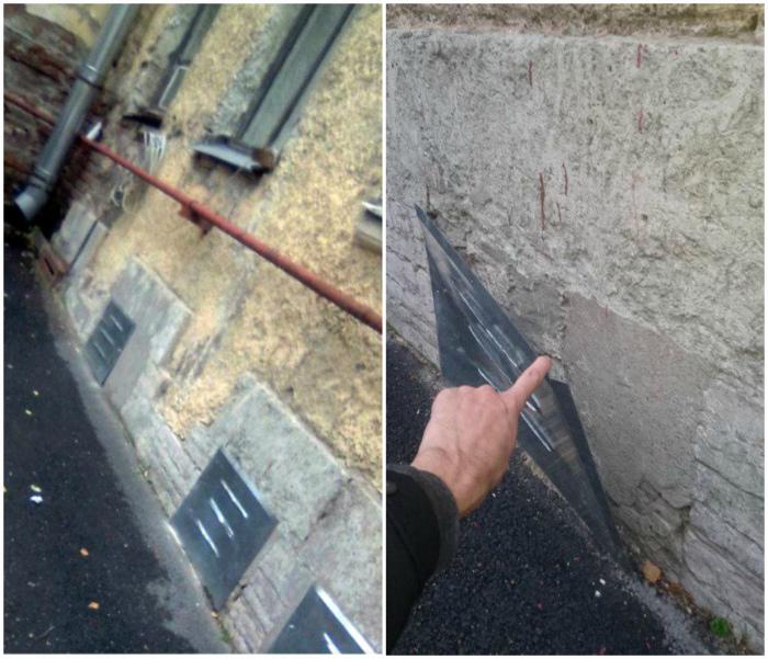 Все под контролем, это особый вентилируемый бетон. | Фото: ЯПлакалъ.