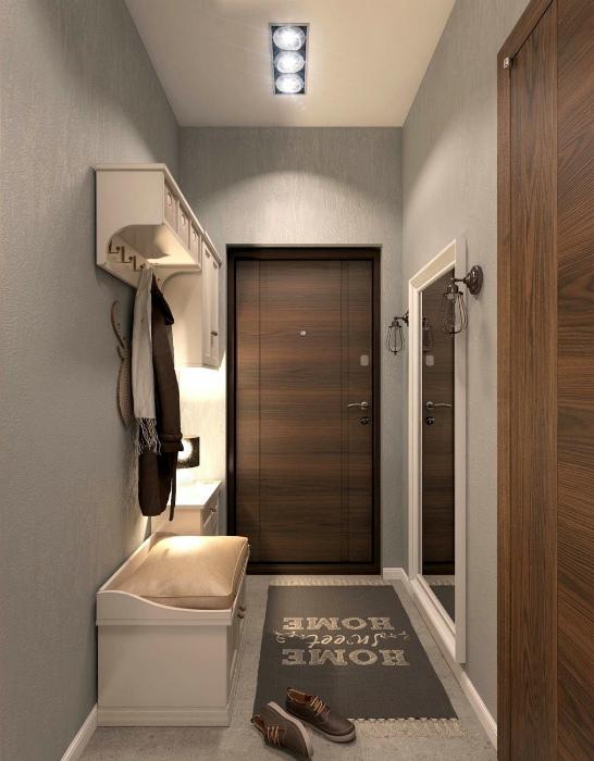 Классический дизайн узкого коридора. | Фото: ТВОЙ ДОМ.
