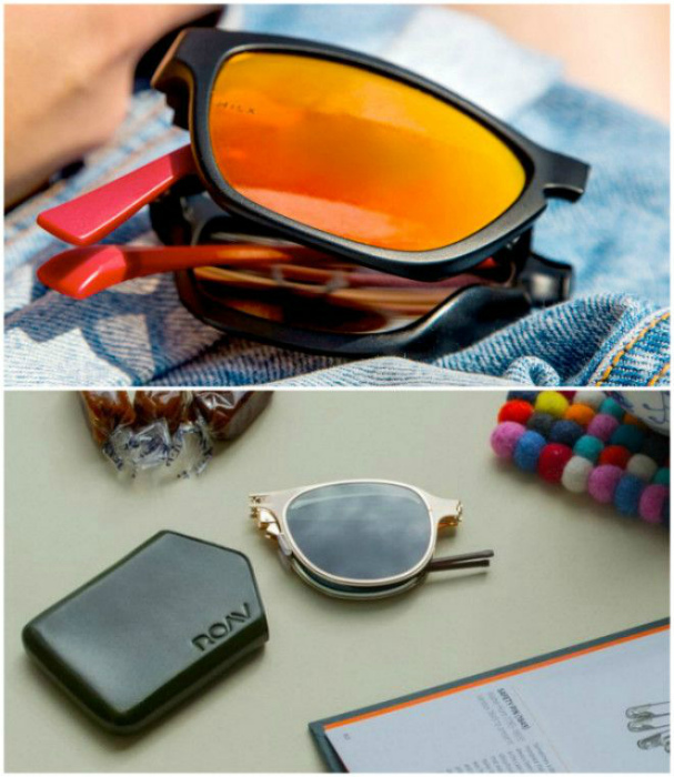 Складные солнцезащитные очки. | Фото: МирТесен.
