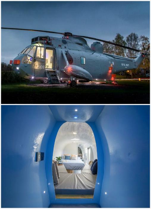 Отель-вертолет в Швейцарии.