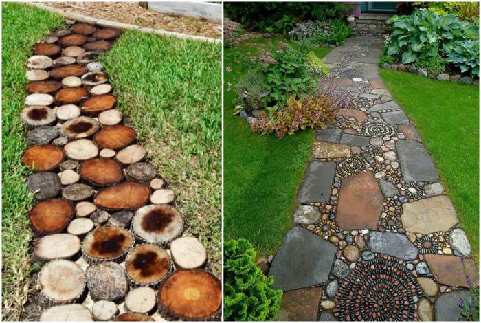 Самодельные садовые дорожки.| Фото: Homebuilding.ru Pinterest.