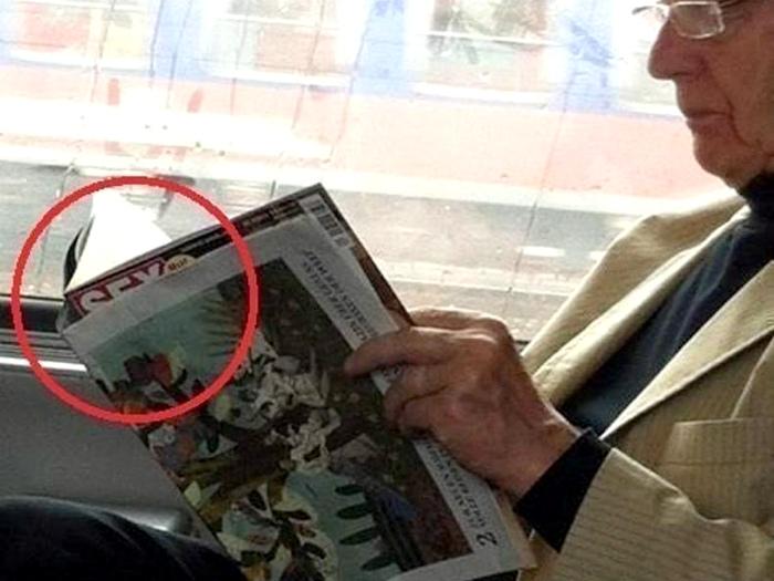По мнению Novate.ru, журнальчик стоило спрятать получше. | Фото: Taringa!