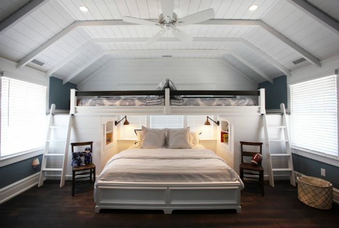 Современная спальня для всей семьи.