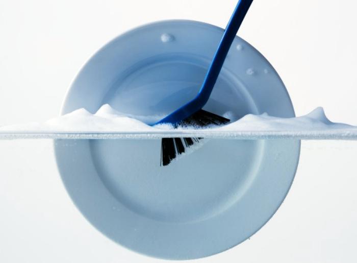 Уход за щетками для посуды.