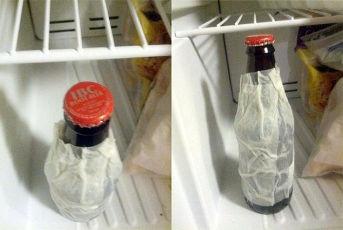 Секрет экспресс-охлаждения напитков.