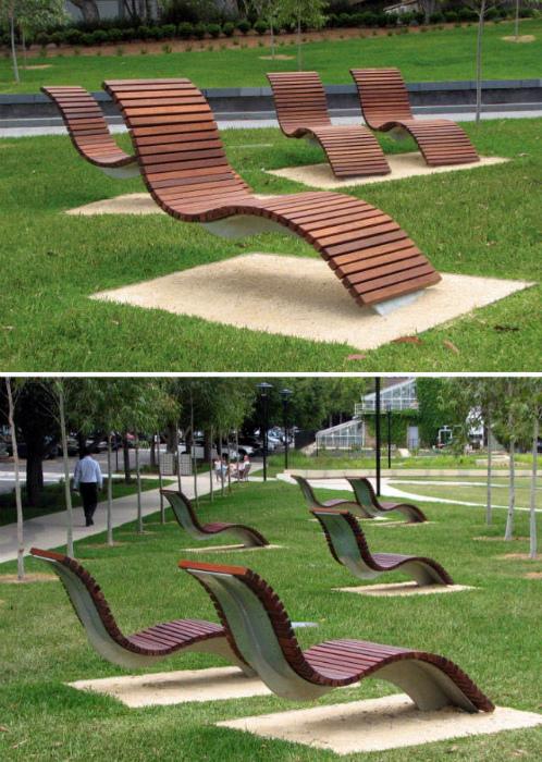 Персональные деревянные скамейки.