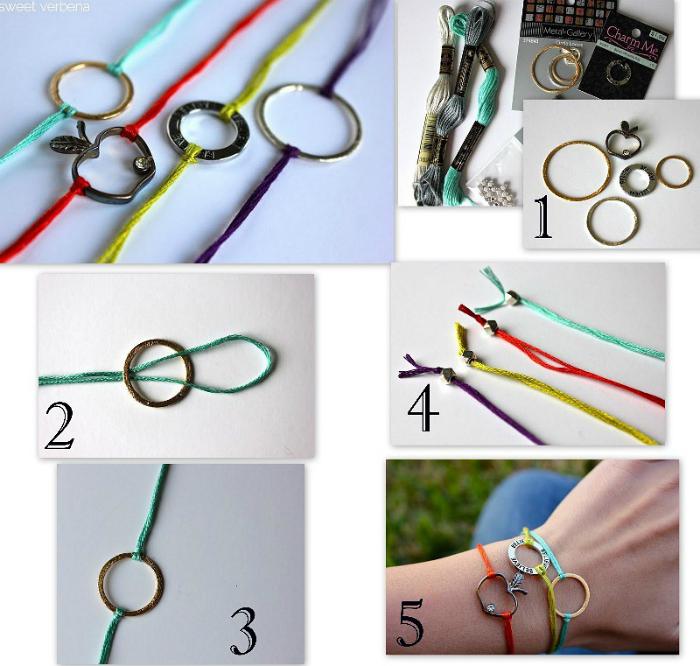Стильный браслетик, который можно сделать из любой подвески из вощеного или кожаного шнурка.