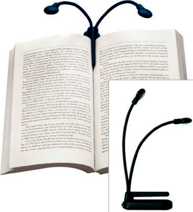 Компактная лампа для чтения.
