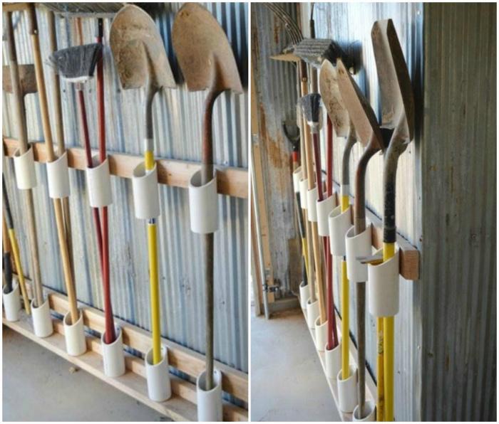 Органайзер для садовых инструментов. | Фото: Hoommy.com.